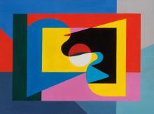 ETIENNE BEOTHY (HUN/1897-1961) Django Reinhardt I, 1949 Gouache sur papier 56 x 76 cm Monogramme et date en bas a droite Gouache on paper 22 x 29 7/8 in Monogrammed and dated in the bottom right corner