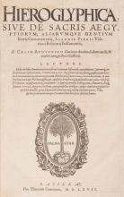 PIERO VALERIANO BOLZANO (Giovanni)- Hieroglyphica sive de sacris aegyptiorvm aliarumque gentium literis commentarii Ioannis Pierii Valeriani