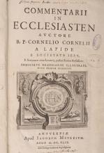 ( RELIGION ) CORNELIUS A LAPIDE (Cornelius). â?? Commentarii in Ecclesiasten ( suivi de ) Commentarii in Canticum Canticorum ( suivi de ) Commentarii