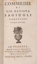 ( LITTERATURE ) FAGIUOLI (Giovanni Batista). â?? Commedi di Gio. Batista Fagiuoli Fiorentino ( Venise ) Venetia, Angelo Geremia, 1758. 2 vol. In-12,