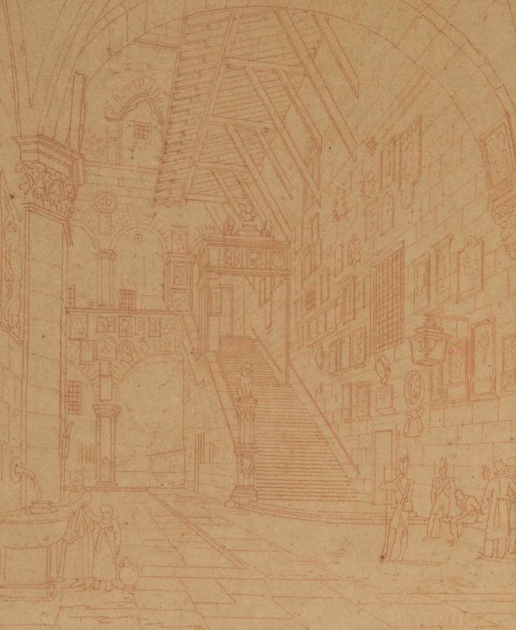 Ecole francaise du xixeme siecle le palais du bargello a flo for Porte francaise