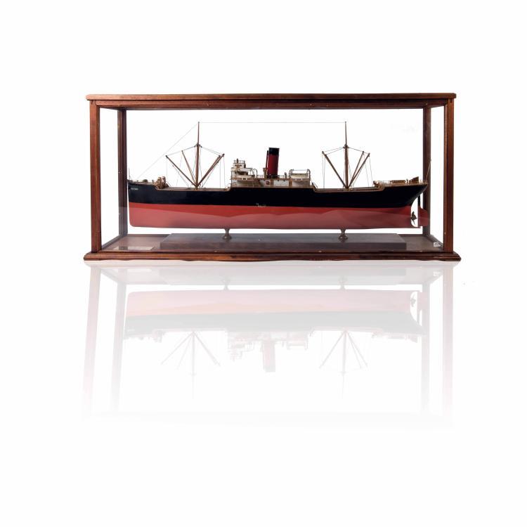 Maquette du S/S «SELVA REED», 61 x 126 x 32 cm., bois, métal et fil.