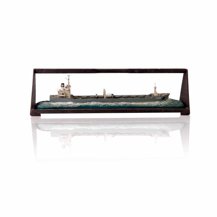 Diorama «BERCE ISTRA», 26 x 90 x 21 cm., bois, métal et fil.