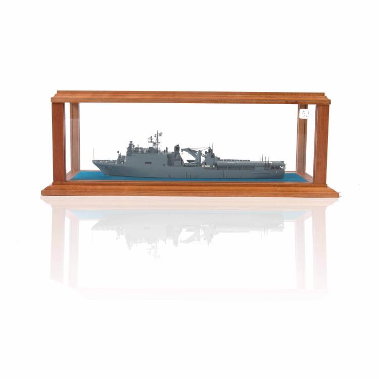 Maquette U.SS «MARKAB», résine dans une vitrine.