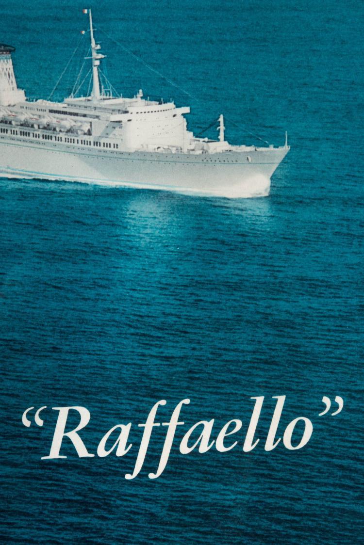 Gravure publicitaire Italia Navigazione «MICHELANGELO» et «RAFFAELLO», 40 x 60 cm.