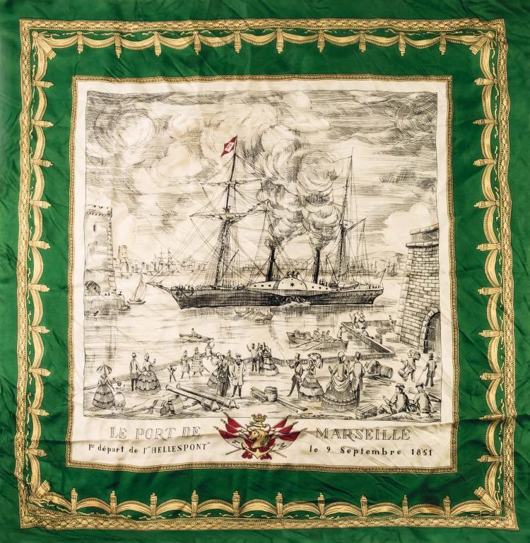 Compagnie des Messageries Maritimes   1 foulard en soie