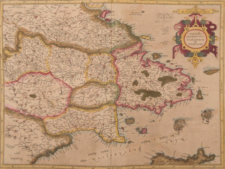 FRANCE Bretagne. Normandie. Britannia et Normandia cum confinibus regionibus. 47 x 35