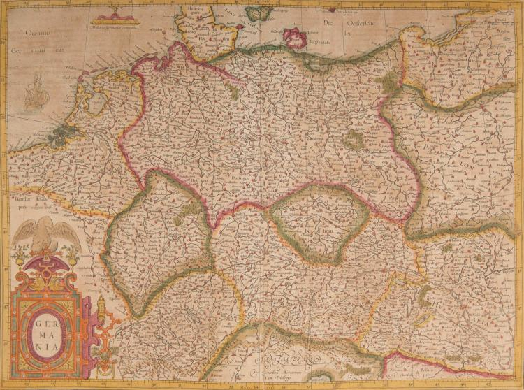 ALLEMAGNE   Germania. 48,5 x 36 (Navire) pli