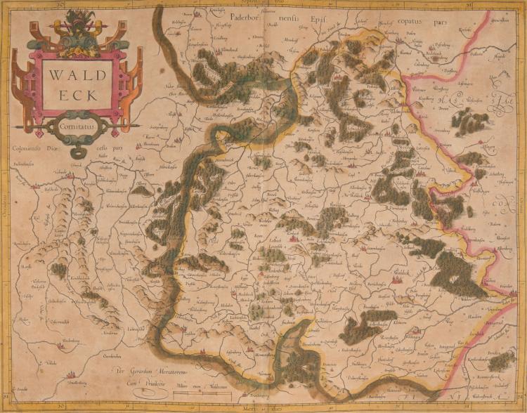 ALLEMAGNE   4 cartes.    - Waldeck comitatus (Kassel) 46 x 35,5    - Wirtenberg ducatus (Stuttgart) 44 x 36,5      - Braunswyck et Meydberg cum ceteris adjacentibus 44,5 x 35    - Thuringia (Erfurt) 41,5 x 34,5