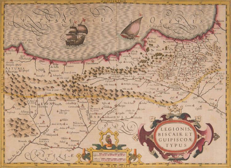 ESPAGNE Pays Basque. Legionis Biscaie et Guipiscoae typus 48 x 35 (Navires)