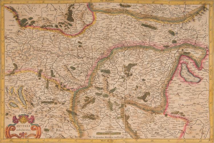 AUTRICHE   3 cartes.    - Austria archiducatus 49 x 32 pli    - Stiria 41,5 x 30    - Saltzburg... cum ducatu Carinthiae. 47,5 x 34