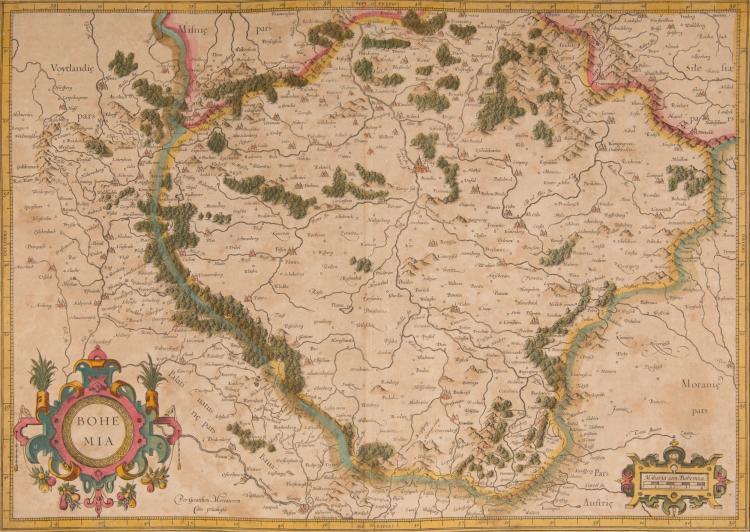 REP. TCHEQUE   2 cartes    - Bohemia 49 x 34      - Moravia 43 x 33
