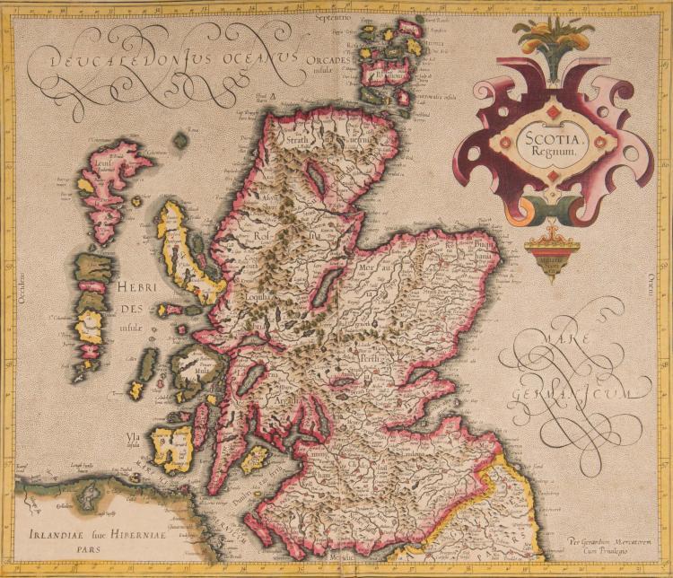 ECOSSE 3 cartes - Scotia regnum 40 x 35 - (Ecosse centrale) 45 x 34,5 - (Ecosse septentrionale + Orcades) 45 x 35 Très bel ensemble des cartes d'Écosse.