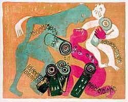 Jean PONS (né en 1913) - Mitraillomachie 1.