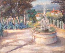 José MANGE (1866-1935) Jardin à La Seyne-sur-Mer