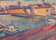 Antoine FERRARI (1910-1995) Vue du Vieux Port