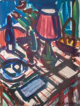 Antoine FERRARI (1910-1995) Nature morte à la lampe
