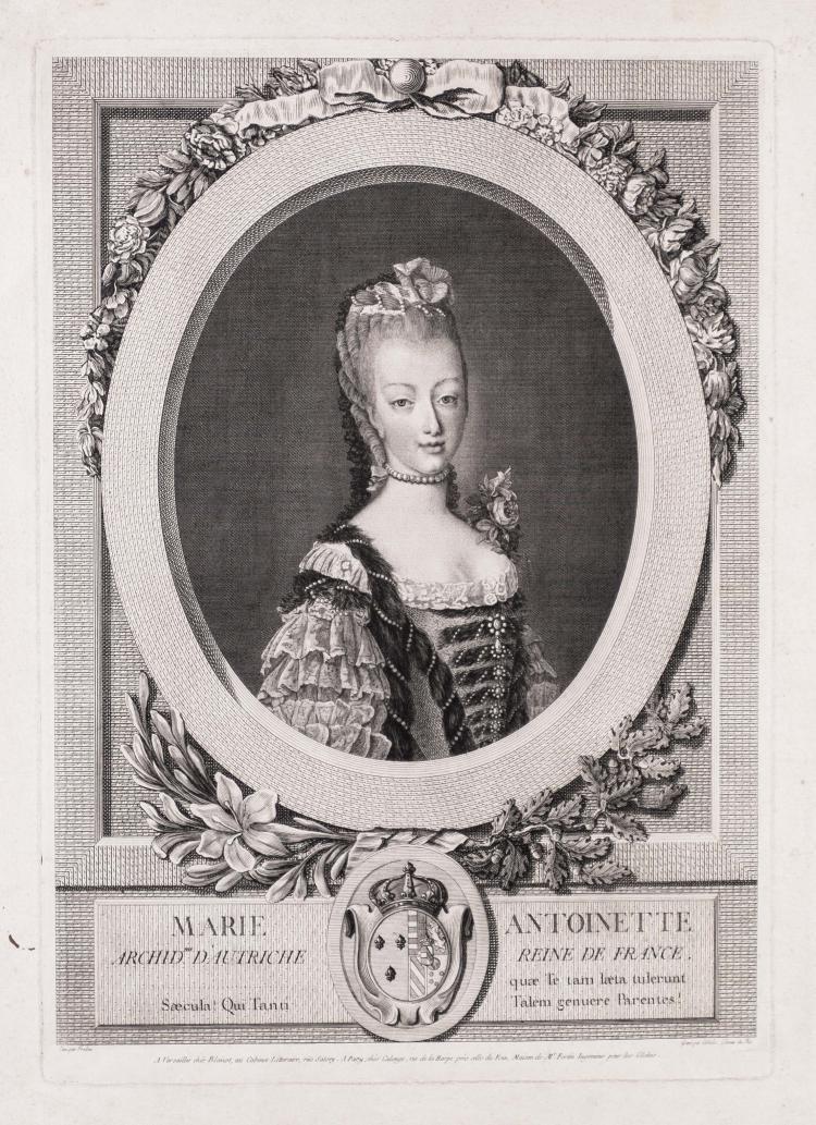 Louis-Jacques CATHELIN.   Marie-Antoinette, archiduchesse d' Autriche, reine de France.