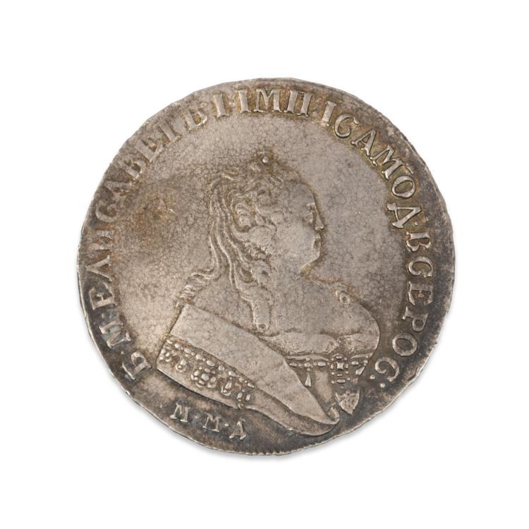 Серебряный рубль елизавета 1752 цена