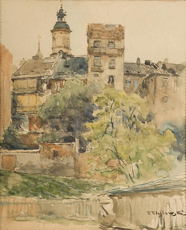 Watercolour by Tadeusz CIESLEWSKI (1870-1956)