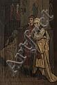 François DUMONT (c.1850-?)  Le recueillement.  Huile sur toile. Signée en bas au milieu.  66 x 45 cm., François (1850) Dumont, Click for value