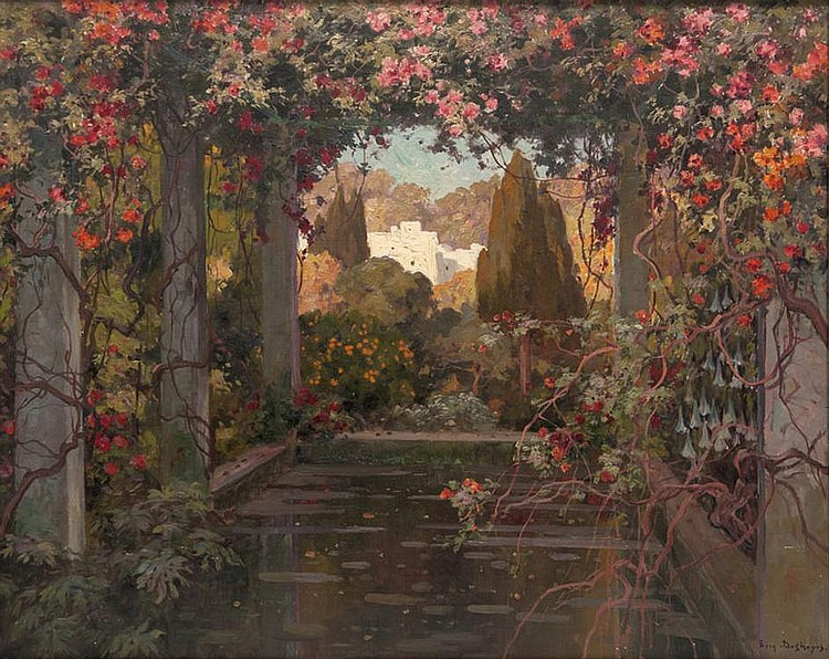 Eug ne fran ois adolphe deshayes works on sale at auction for Toile tendue jardin