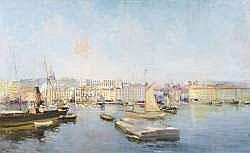 Raymond ALLEGRE (1857-1933) - Vue du quai du port