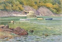 Lina BILL (1855-1936) - La plage de Magot près de