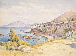 Lina BILL (1855-1936) - La plage de l'Almanarre