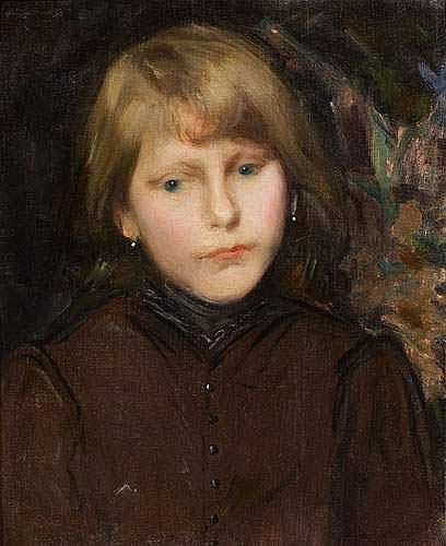 CARL OSCAR LARSSON (1887-1962) - Portrait d'une