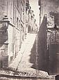 ADOLPHE TERRIS (1820-1899) Rénovation de la Vieille Ville de Marseille, ouverture de la Rue Impériale, 1862. Album photographique des Anciennes Rues démolies pour l'ouverture de la Rue Impériale, in-folio, demi-basane et percaline brunes, dos à nerfs