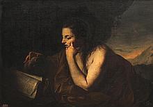 Gianantonio GALLI, dit LO SPADARINO (1585-1651), attribué à Marie Madeleine en prière. Toile.