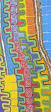 Patrick OLODOODI TJUNGURRAYI (circa 1940) Sans titre (2013). Acrylique sur toile.