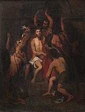 Pierre Jules JOLLIVET (Paris 1794 - 1871) Le couronnement d'épines. Sur sa toile d'origine.