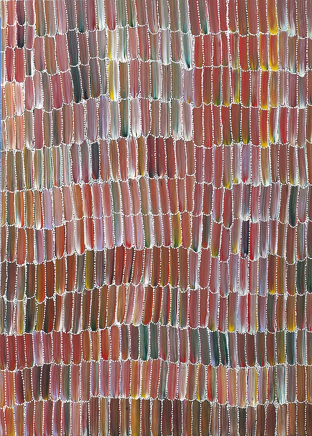 Jeannie MILLS PWERLE Anaty - bush yam (2013). Acrylique sur toile.