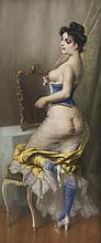 Ladislaus BAKALOWICZ (1833-1903)  Femme au miroir.