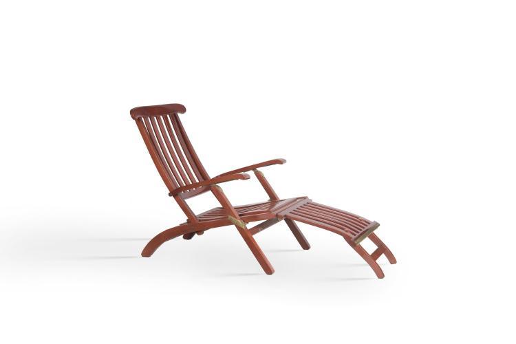 Paire de chaises longues bois for Chaise longue bois exotique