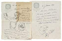 LOUIS JOU (1882-1968): 8 L.A.S. sur son papier à