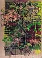 ZEKY (1975)Casse-brique.Peinture acrylique et posca sur toile de lin brut.Datée 2009.185 x 136 cm.,  ZEKY, Click for value