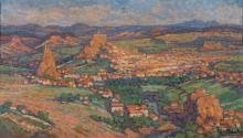GABRIEL MOISELET (1885-1961) Vue panoramique du Puy-en-Velay