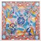 Pierre AMBROGIANI (1907-1985) Etude pour le foulard officiel pour les JO de Grenoble, 1968. Gouache sur papier. Signée en bas vers le milieu. 90 x 90 cm. Certificat de Raymonde Ambrogiani au dos.
