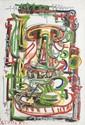 Giulio TURCATO (1912-1995) Composition. Huile sur toile. Signée en bas à gauche. 55 x 38 cm.