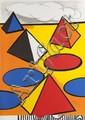 Alexandre CALDER (1898-1976) Ciel d'orage. Lithographie hors commerce. Signée en bas à droite. 78 x 58 cm.