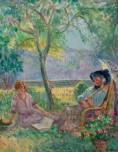 PIERRE LÉONCE FURT (1870-1951) Le repos dans le jardin