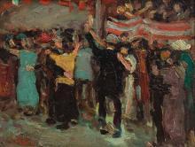 JEAN VILLERI (1896-1982) Scène de bal (recto); Etude de paysage (verso)