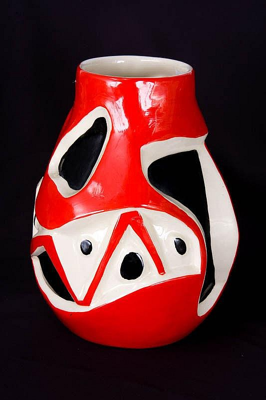 Roland BRICE, vase in ceramic, signed