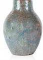 De VEYLE Vase de forme pansu en céramique vernissée de couleur gris nuancé. Signé. H. : 23 cm.