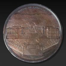 Médaille en argent commémorative de la construction du Palais  de Lonchamp à Marseille.