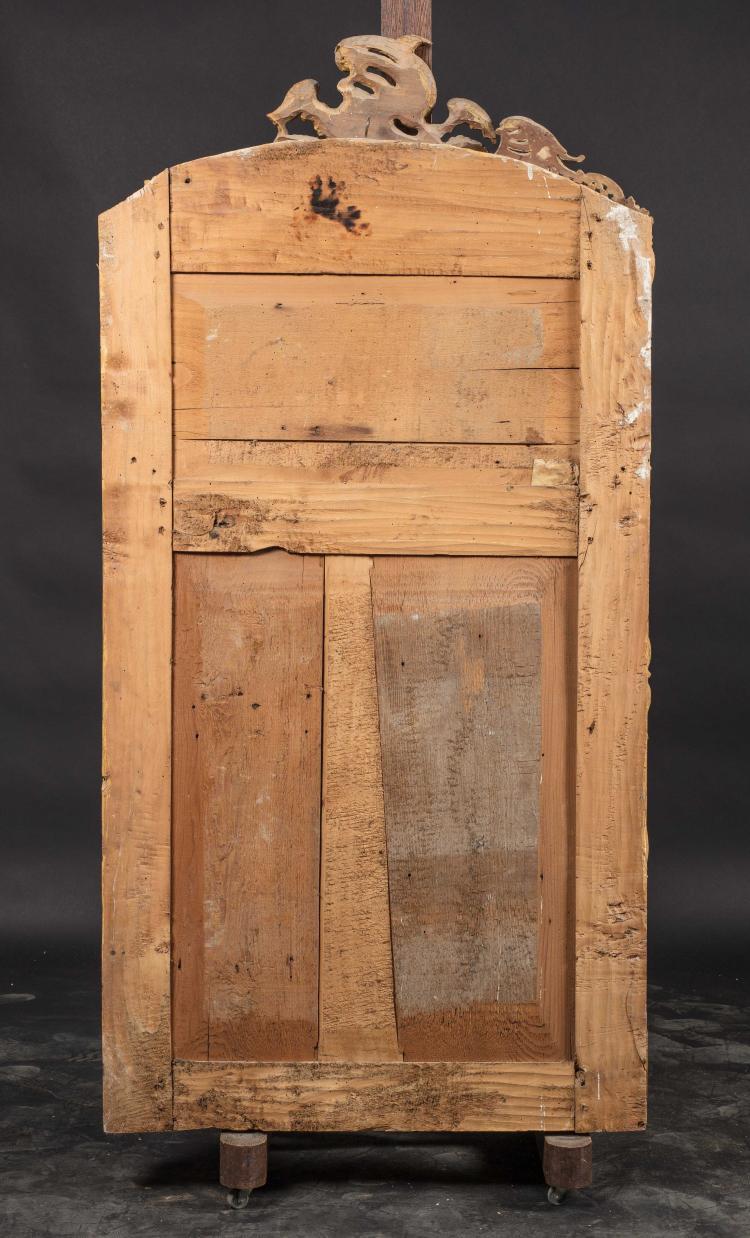 Miroir en bois dor epoque louis xv accidents et manques - Miroir ancien bois dore ...