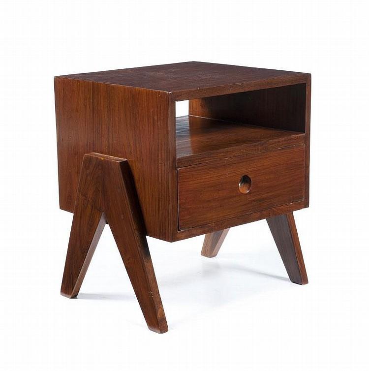pierre jeanneret 1896 1967 suite de deux chevets dit beds. Black Bedroom Furniture Sets. Home Design Ideas